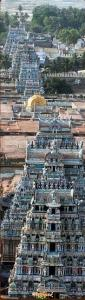 srirangam temple seven towers