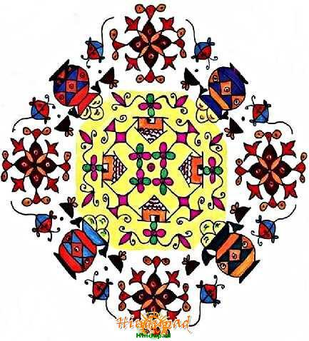 Sankranti Rangoli Designs, Pongal Rangoli Patterns, Dots Muggulu