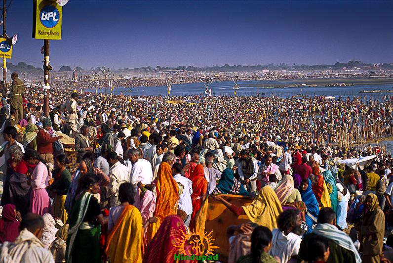 allahabad kumbh mela 2013 morning view hindupad