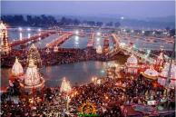 Early Morning View of Kumbh Mela 2013