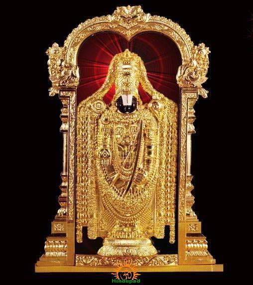 Lord Balaji at Tirumala Tirupati Temple