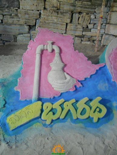 Mission Bhagirath Sand Sculpture 3