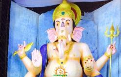 72-feet Ganapathi idol 2016 17 at Vijayawada Tallest