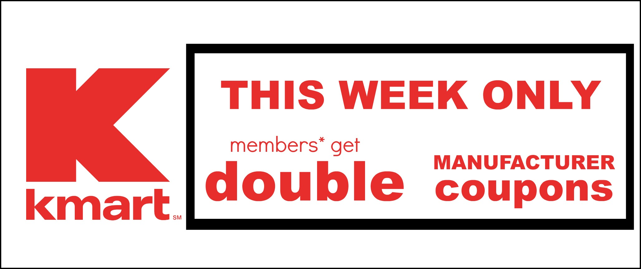 Kmart Coupons Kmart Doubling Coupons Up To 2 Value This Week Only Free Kotex