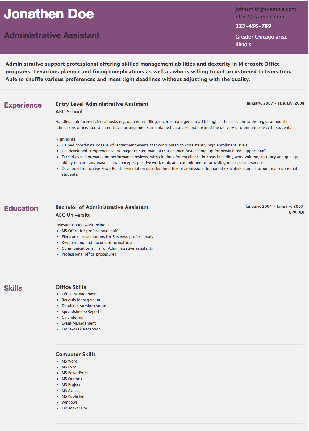 examples of administrative assistant resume resume samples examples of administrative assistant resume best administrative assistant resume example livecareer resume example resume template jobs