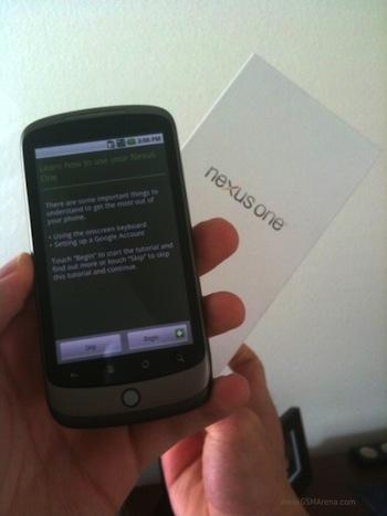 Nexus One y caja