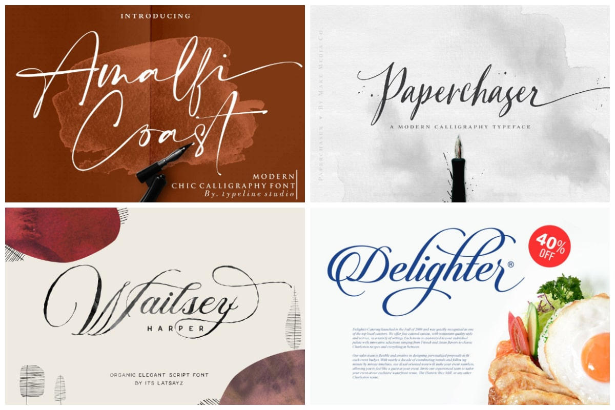 31 Delicate Calligraphy Fonts To Make Your Designs Extraordinary Hipfonts