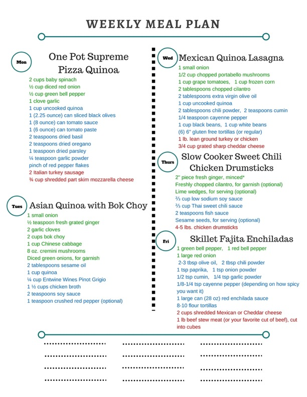 Healthy Weekly Meal Plan 12817 - healthy weekly meal plans