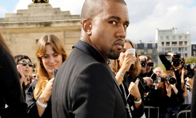 Kanye West arriving for the Christian Dior Spring-Summer 2013 Ready-To-Wear collection show during Paris Fashion Week