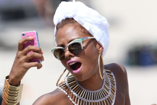 Model Eva Marcille shows off her bikini body as she films a Jennifer Lopez music video in Ft Lauderdale, FL