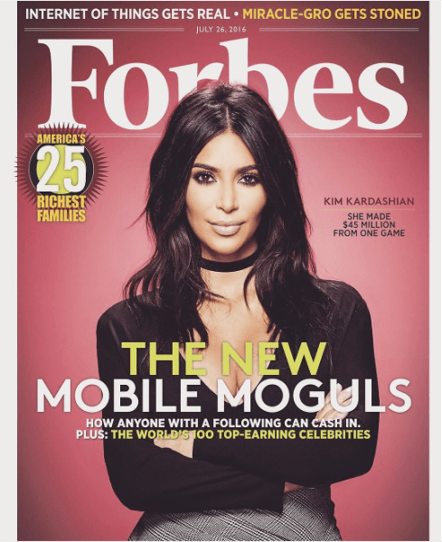 Kim Kardashian West: 'I've made my dad proud with FORBES cover'