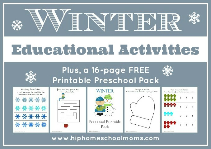 Winter Educational Activities Hip Homeschool Moms - printable preschool worksheet