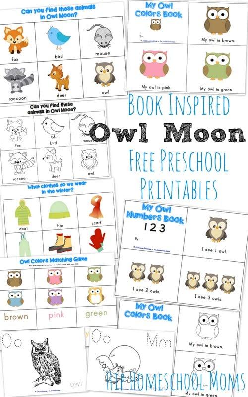 Owl Moon Inspired Preschool Printables Hip Homeschool Moms