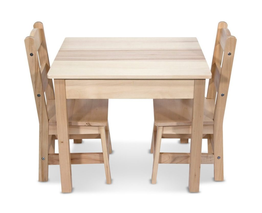 Childrens Wooden Table And Chairs Lightning Deal Alert Melissa Doug Solid Wood Table And 2 Chairs