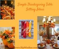 Simple Thanksgiving Table Setting Ideas - Hip Hoo-Rae
