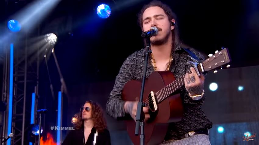 Music Quotes Wallpaper Guitar Post Malone Performs Go Flex On Jimmy Kimmel Live