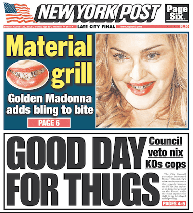 NY Post Headlines Thugs.06.11 AM