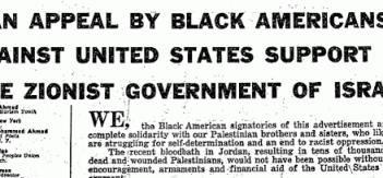 BLACK LEADERS AND PALESTINE