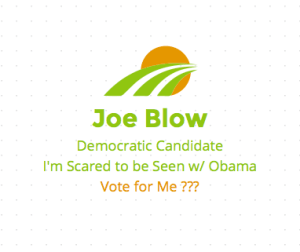 Scared to be seen with Obama