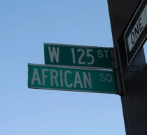 Harlem street sign