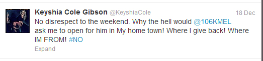 keyshia cole tweets four