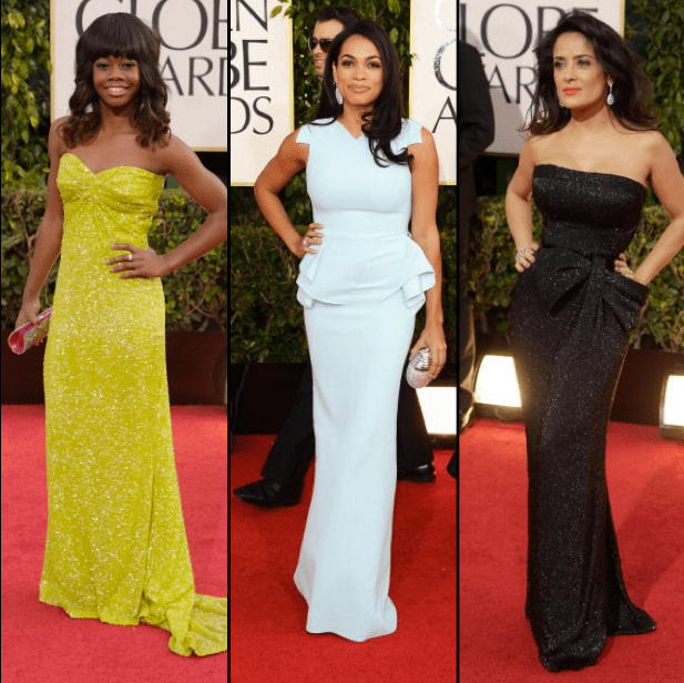 Gabby-Douglas-Rosario-Dawson-and-Salma-Hayek-2013-Golden-Globe-Awards