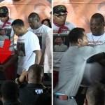 Hand Problems? Boxer Ricardo Mayorga Slaps Sugar Shane Mosley's Girlfriend's Butt
