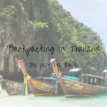 Thailand Backpacking Route