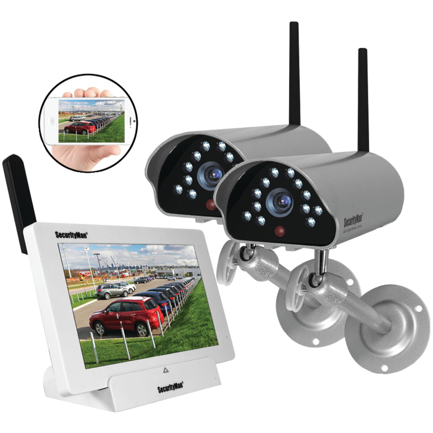 Diy Home Security Cameras Reviews Securityman Digilcdndvr2 Indoor Outdoor Isecurity