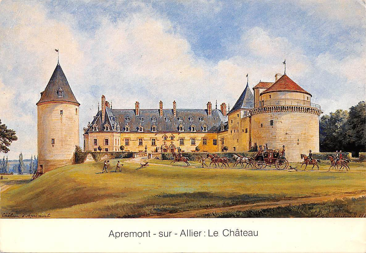 Apremont Sur Allier Chateau France Apremont Sur Allier Le Chateau Castle Arrivee De Caroline
