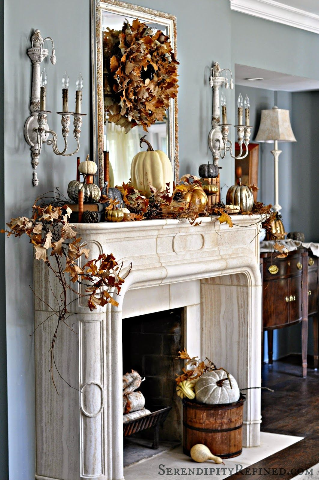 Floating Fireplace Mantel Ideas 35 Fall Mantel Decorating Ideas Halloween Mantel Decorations