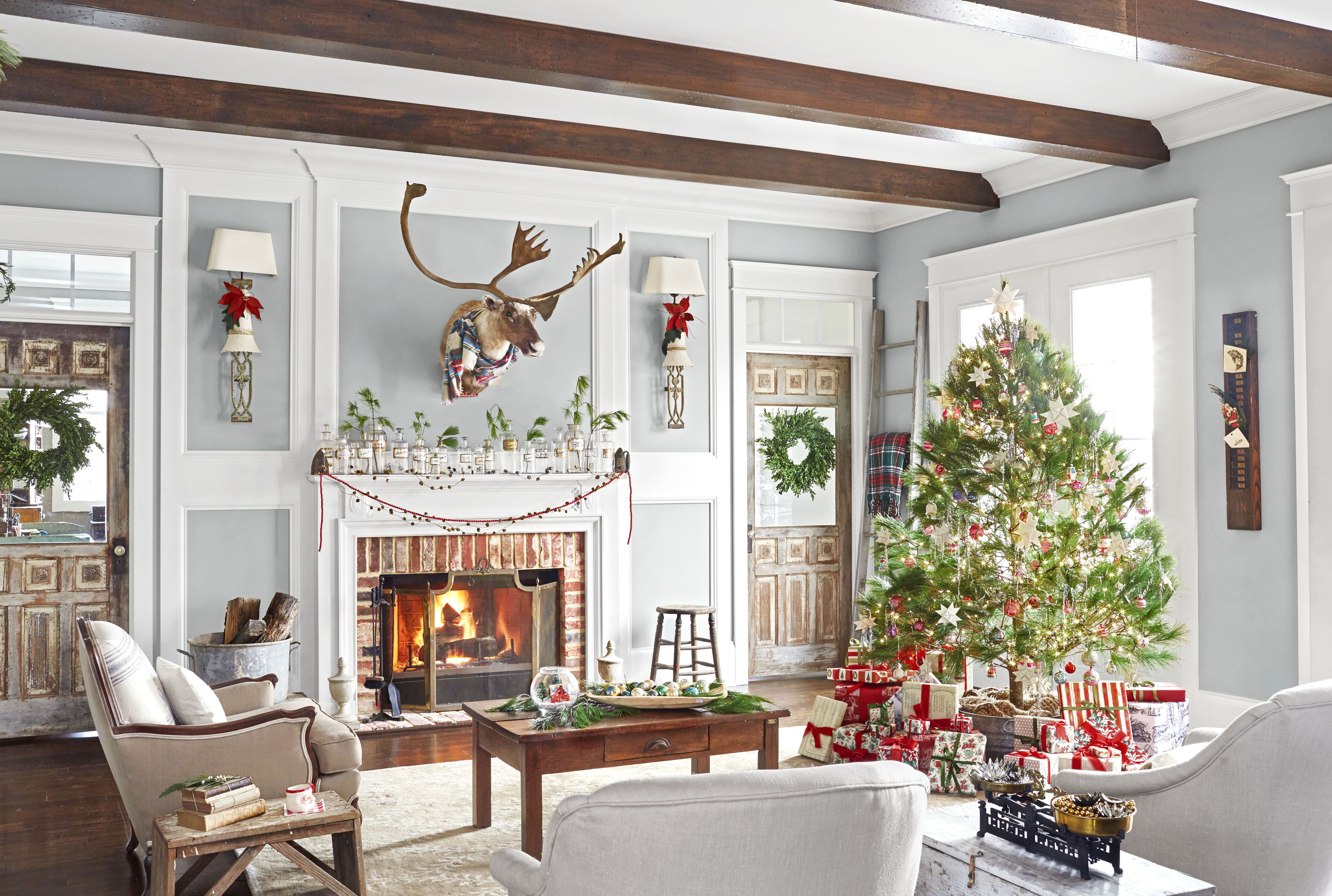 Dekoration Home 110 Country Christmas Decorations Holiday Decorating Ideas 2018