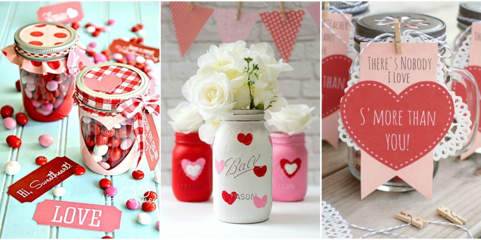 25 Cute Valentines Day Mason Jars Ideas Valentine39s Day
