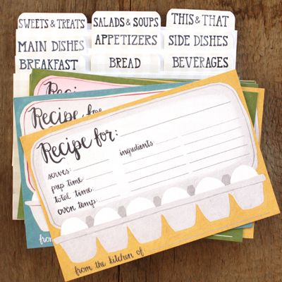 Adorable Recipe Cards - Great Hostess Gifts