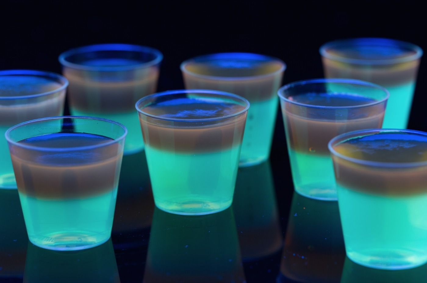 Easy Halloween Shots Recipes Glowing Jell O Shots