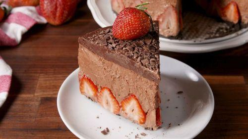 Medium Of Strawberry Mousse Cake