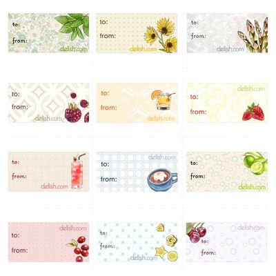 Printable Gift Tags - Holiday Gift Tags