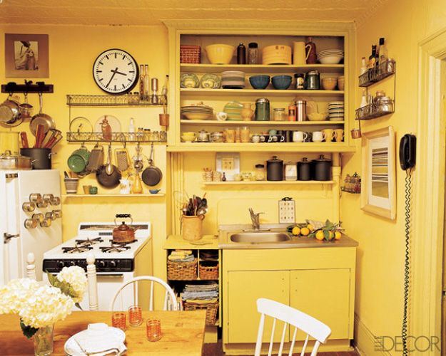 50 Small Kitchen Design Ideas - Decorating Tiny Kitchens - kitchen designs for small spaces