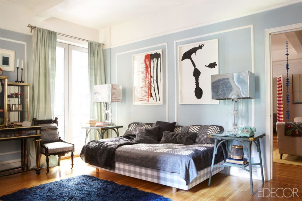 24 Best Blue Rooms - Ideas for Decorating with Blue - elle decor living rooms