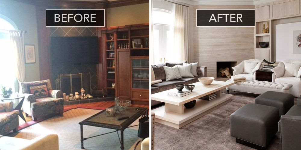Family Room Before And After - Family Room Design Ideas - elle decor living rooms