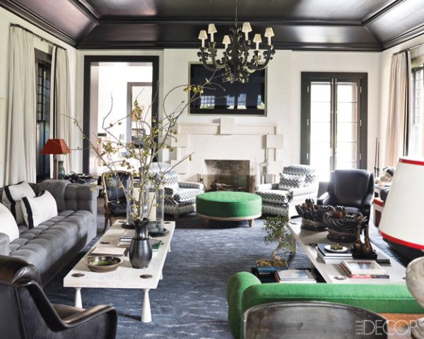 Decorating White Walls - Design Ideas for White Rooms - elle decor living rooms