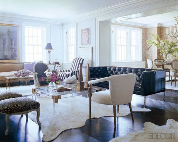 20 White Living Room Furniture Ideas - White Chairs and Couches - elle decor living rooms