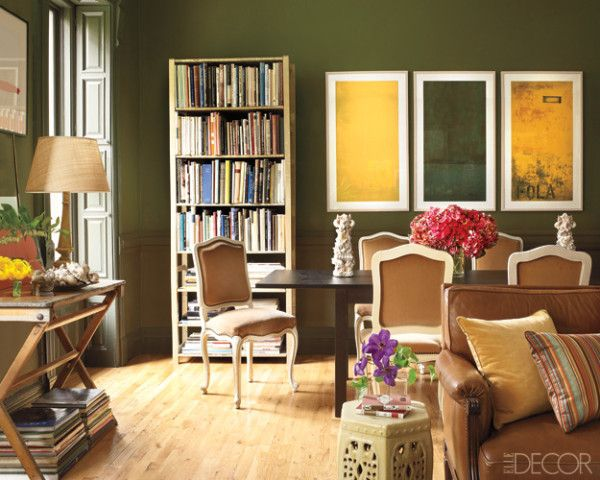 20 Olive Green Paint Color & Decor Ideas - Olive Green Walls