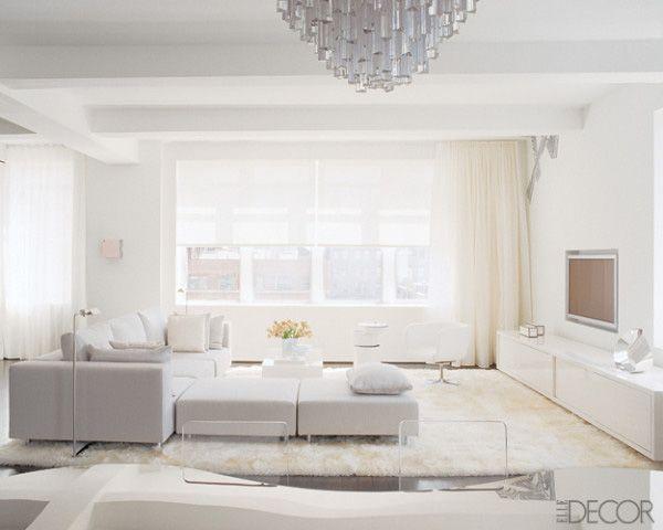 White Living Rooms - all white living room