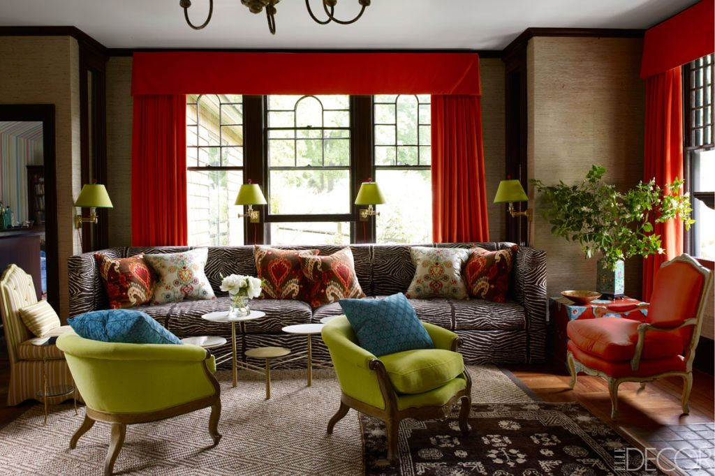 40 Living Room Curtains Ideas - Window Drapes for Living Rooms - elle decor living rooms