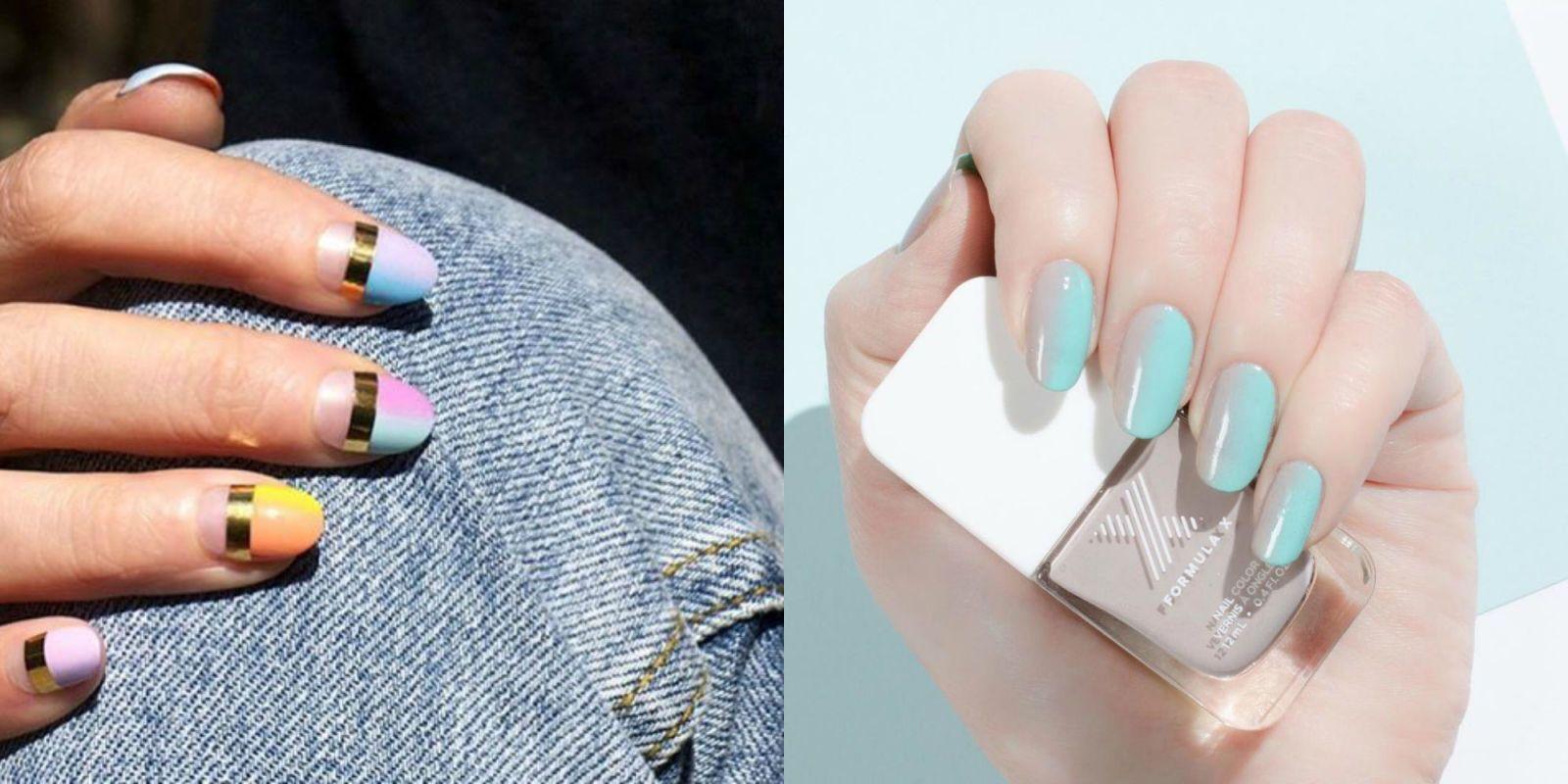 French Nail Designs 2017 Fall Short Gel Polish Nude Matte