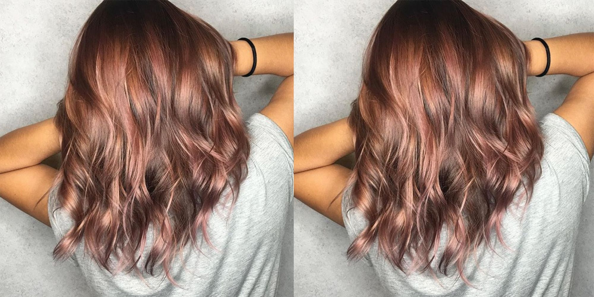 Long Bob Ombre Braun Rose Brown Hair Is The 2018 Pastel Hair Trend That S Brunette Friendly