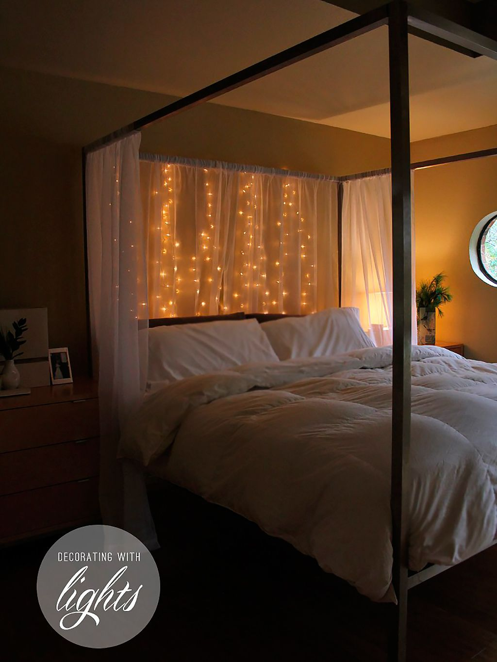 Luces Dormitorio Decorar El Dormitorio Con Guirnaldas De Luces