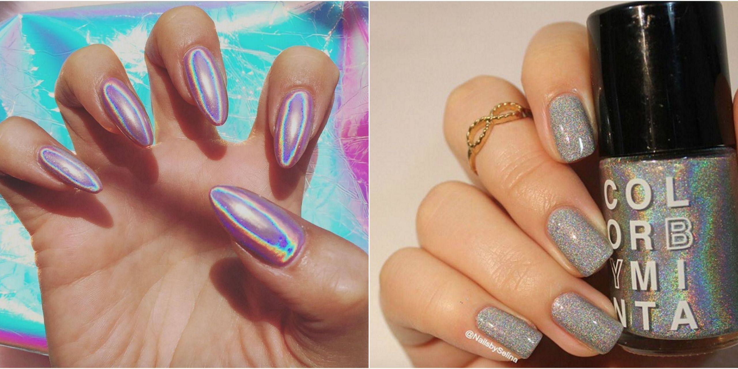 Cute Hollographic Wallpapers Holographic Nails Are Instagram S Latest Obsession