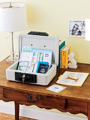 Organize Important Papers Store Financial And Legal